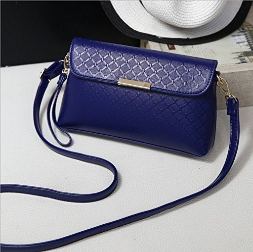 nuovo presidente spalla borsa Messenger di mezza età mamme mini party di pacchetti in un cross-pacchetto di piccole dimensioni del vecchio pacchetto lunga24cm Larghezza5.5cm alto14.8cm Blue