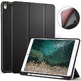 Ztotop Custodia per iPad PRO 10.5 con portamatite, Custodia Smart Cover Automatica per la Protezione Sonno/risveglio Nuova iPad PRO 10.5 Pollici, Nero