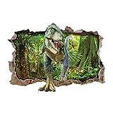ufengke Adesivi Murali Dinosauro Foresta Adesivi Muro 3D per Camerette Bambini Asilo Nido Casa