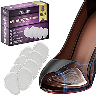 Ball of Foot, Ball of Foot Cushions Party Feet (4 Pairs) Gel Insoles For Women Gel Heel Pads Gel Inserts Shoe Insoles Party Shoes Women by Ballotte