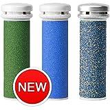 Emjoi Micro-Pedi Compatible Refill Rollers - (Extra, Super & Xtreme Coarse) - Pack of 3