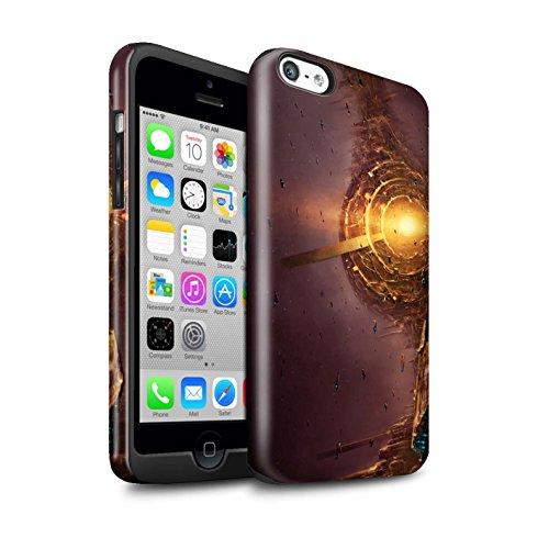Offiziell Chris Cold Hülle / Glanz Harten Stoßfest Case für Apple iPhone 5C / Schwarzes Loch Muster / Galaktische Welt Kollektion Raumfahrzeug