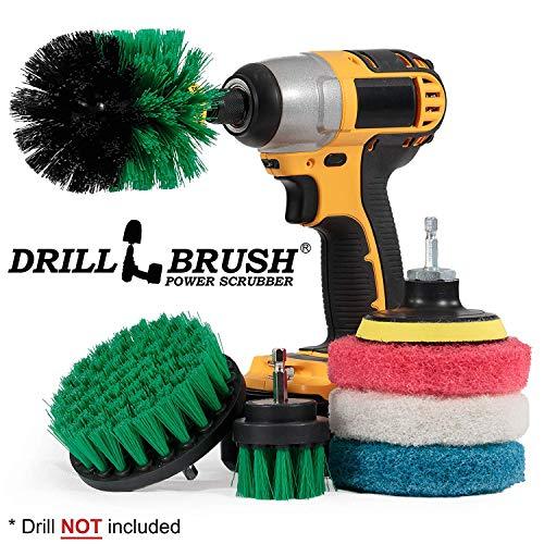 Drillbrush Cleaning Supplies - Bürsten Bohraufsatz Kit - Drill-Bürsten-Pads - Küchenreinigungsbürste - Oven Cleaning-Rack - Bürste - Stromreinigungsbürste - Rotary Drill Pinsel Cordless Scrubber -