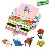 Carta per origami, 100 fogli, 15 x 15 cm, quadrata, per gru, rosa, fiori, aerei, cuori, artigianato per bambini, fai da te
