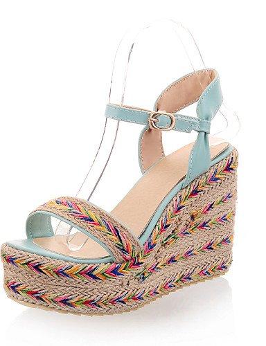 UWSZZ IL Sandali eleganti comfort Scarpe Donna-Sandali-Casual-Zeppe-Zeppa-Finta pelle-Nero / Verde / Viola Green
