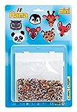 Hama 5611 Bügelperlen Mini, ca. 5000 Stück, inklusive Stiftplatte Viereck und Zubehör, Tiere, Mehrfarbig