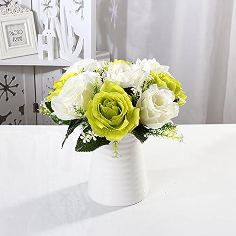 Maivas Décoration Vase en céramique moderne simple rond Blanc mat