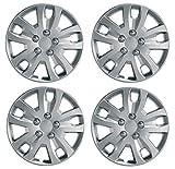"UKB4C Set x 4 Silver Multi-Spoke Wheel Trims Hub Caps Covers Protectors (14"")"