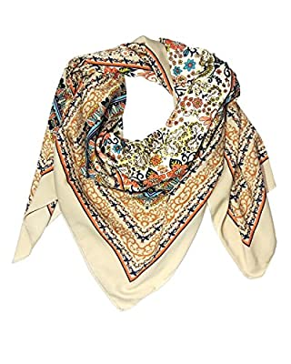 INDIAN FASHION GURU Beautiful floral print cotton stole, scarf and dup.