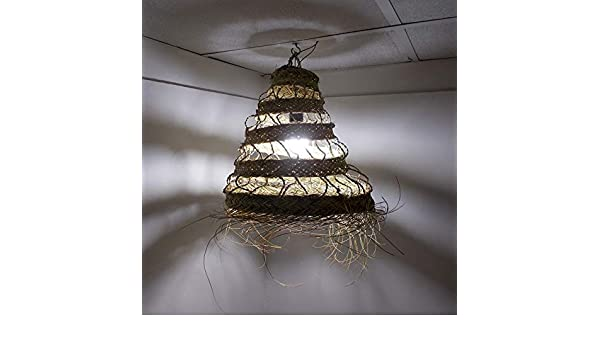 Lustre marocain osier paille rotin suspension ethnique Maroc 0503191102
