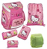 Familando Hello Kitty Schulranzen Set 6tlg. Federmappe Turnbeutel rosa Scooli Campus Up Ranzen HKYX8252