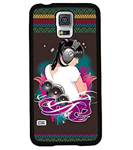 Fuson 2D Printed Music Girl Designer back case cover for Samsung Galaxy S5 Neo - D4185
