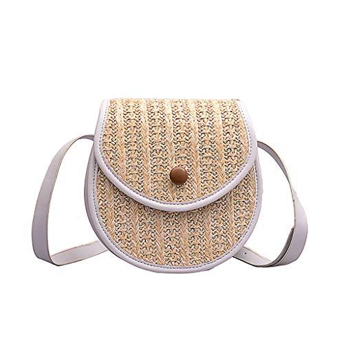 Mitlfuny handbemalte Ledertasche, Schultertasche, Geschenk, Handgefertigte Tasche,Frauen-Stroh-Strandtasche, die kleine quadratische Taschen-Schulter-Kuriertasche näht -