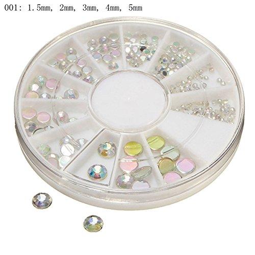 Bluelover Nieten Form DIY Design Mehrfarbige Nägel Nagel Dekoration Rad Perlen 001