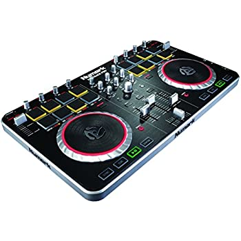 numark mixtrack pro ii all in one 2 channel dj controller with audio i o drum pads and touch. Black Bedroom Furniture Sets. Home Design Ideas