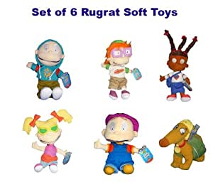 Rugrats - Set of 6 soft toys (Official Nickelodeon products) [Toy]