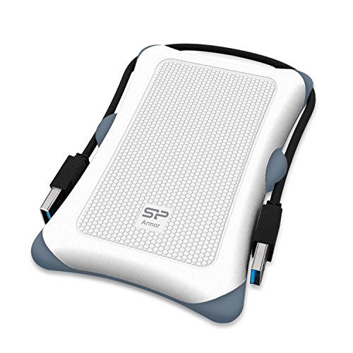 "Silicon Power Rugged Armor A30 - Disco duro externo portátil de 1 TB (2.5"", USB 3.0, SATA III), color blanco"