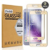 Owbb [2 Pièces] Film Protecteur D'écran en Verre Trempé pour Samsung Galaxy J4 (2018) Gold Couverture Complète Protection 99% Haute Transparent Anti-déflagrant