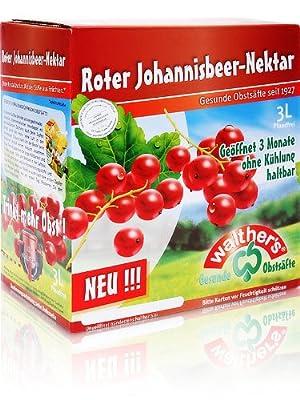 Walthers Roter Johannisbeer-Nektar, 2er Pack (2 x 3 l Saftbox)