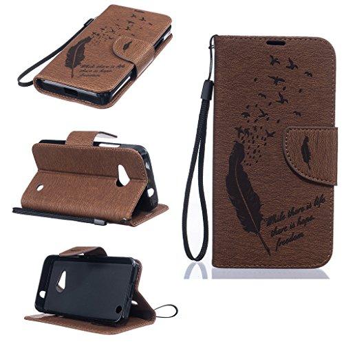 BoxTii® Custodia di pelle per iPhone 6/iPhone 6s, con pellicola in vetro temperato inclusa, chiusura magnetica a libro, con scomparti per carte di credito e denaro, supporto con funzione cavalletto, m #3 Brown