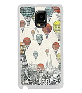 ifasho city with artistic hot air baloon Back Case Cover for Samsung Galaxy Note 4 Edge