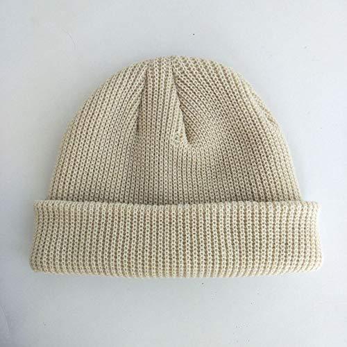 Hut Männer und Frauen Hut einfarbig Melone Hut Wollmütze gestrickt