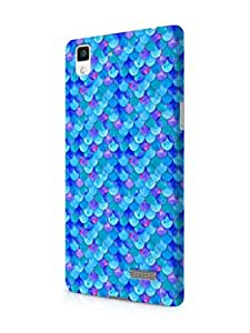 Cover Affair Fish Scales Printed Designer Slim Light Weight Back Cover Case for Oppo R7