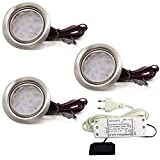3er Set LED Einbauleuchte Moebelleuchte Einbaustrahler 3W HIGH LED SMD WARMWEISS