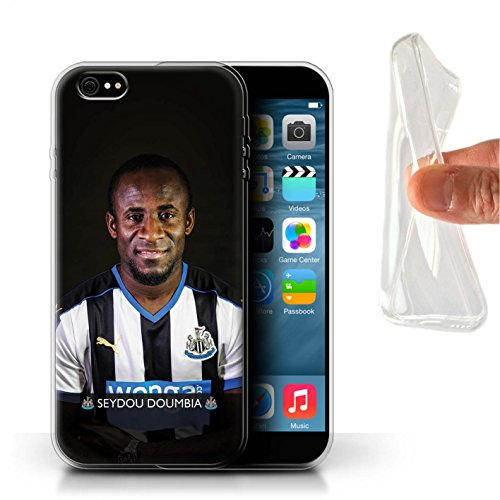 Offiziell Newcastle United FC Hülle / Gel TPU Case für Apple iPhone 6S+/Plus / Pack 25pcs Muster / NUFC Fussballspieler 15/16 Kollektion Doumbia