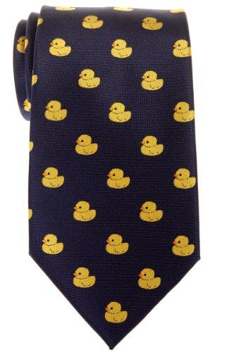 Corbata para hombre con diseño de patos de goma de Retreez, tejido de microfibra Azul azul marino Talla única
