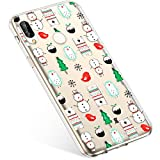 Kompatibel mit Handyhülle Huawei P Smart Plus Schutzhülle Silikon Transparent Durchsichtig Handyhülle Schutzhülle TPU Dünn Handytasche Etui Case Cover,Schneemann Baum