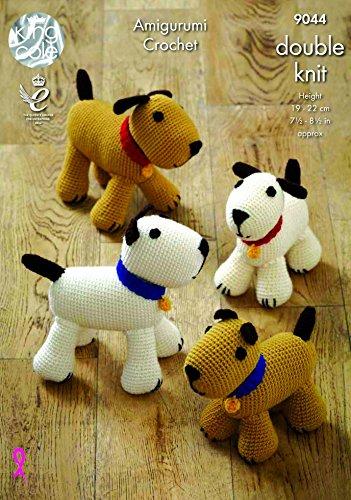 King Cole Hunde Spielzeug Amigurumi Merino Häkelmuster 9044DK