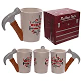 Tasse #50256 mit Hammer Henkel und Bau Werkzeug Deckodruck