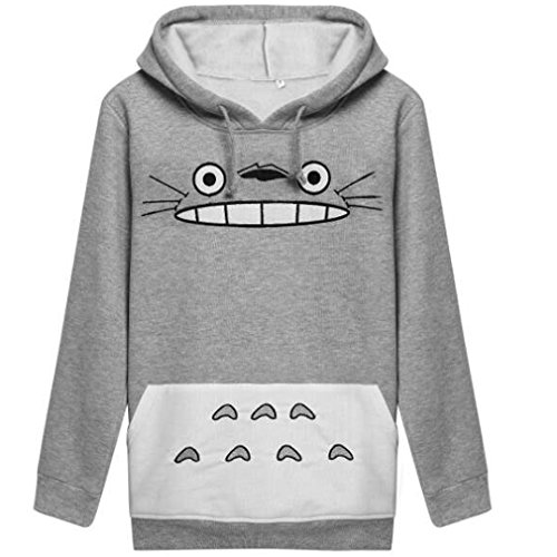 WTUS Unisex Anime Mein Nachbar Totoro Sweatshirt Top Freizeit Pullover Sport Damen Mädchen