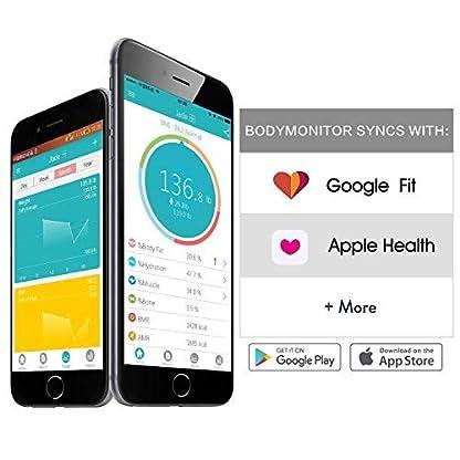 51%2BtGdLRBWL. SS416  - SENSSUN Bluetooth Medidor Inteligente de Masa Corporal, Báscula Digital de Baño, BMI Báscula de Peso, Analizador de composición de Cuerpo con IOS y Android APP(Negro)