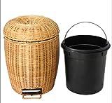 LINDAPoubelle-Poubelle-Tricoter-Bambou-Et-Le-Rotin-Mnage-L-Petit-Mode-Cratif-Pied-Cuisine-Dchets-Agrable-Bureau-Wastebasket-Salle-De-Bain-Fait--La-Main-Tissage-Vigne-Vrai-Indonsienne-Durable-Mode-Plas