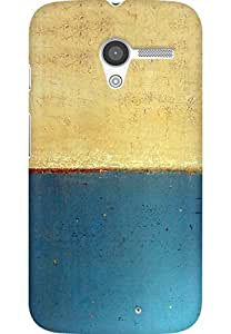 AMEZ designer printed 3d premium high quality back case cover for Moto X (Art abstract classic paint illust blue)