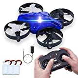 ONIPU Mini Drohne, Drohne Kinder Spielzeug RC Quadcopter 2.4GHZ 4CH 6 Achsen 3D Flips Headless Modus mit LED-Leuchten Ga