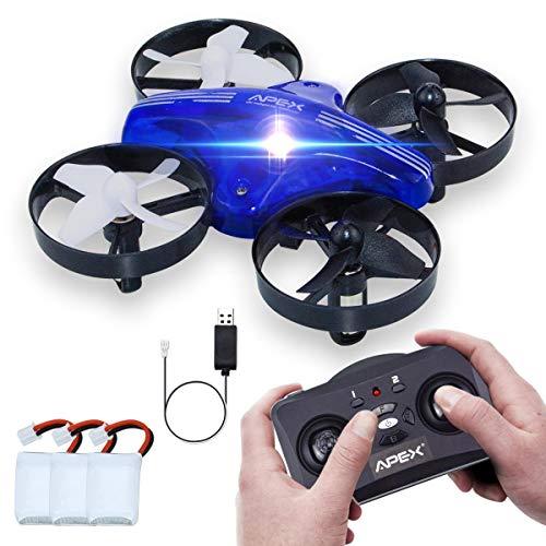 Mini Drohne, ONIPU RC Fliegen Spielzeug Fernbedienung Quadcopter 2.4GHZ 4CH 6 Achsen 3D Flips Headless Modus mit LED-Leuchten Gadgets Geschenke Indoor Outdoor Spielzeug für Kinder Jungen Mädchen (Blau)