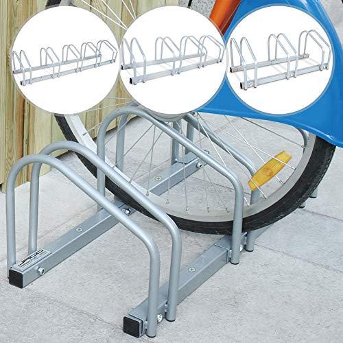 Jago Fahrradständer | Wahlweise für 2, 3, 4 oder 5 Fahrräder, Witterungsbeständig, Boden- und Wandmontage, Eisen | Seitenständer, Universal Bike Ständer für Mountainbike, Rennrad, Fahrräde -
