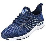 NEOKER Chaussures Homme Femme Baskets Running Shoes Sport Sneakers Fitness Respirant Légère Bleu 42