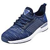 NEOKER Sneaker Herren Damen Atmungsaktives Tennisschuhe Freizeitschuhe Leicht Casual Blau 36
