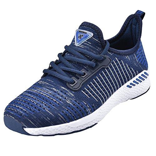 Neoker uomo donna scarpe da sportive running basse sneakers blu 44
