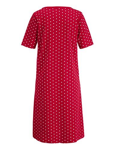Damen Nachthemden by Simone Rot/Schwarz/Weiß