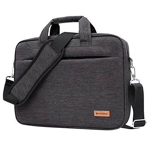 Awland Laptop Tasche für 38,1–39,6cm Laptop MacBook Pro-Tasche Aktentasche Schultertasche Laptop Messenger Bag Notebook Sleeve Fall Handtasche–Dunkelgrau