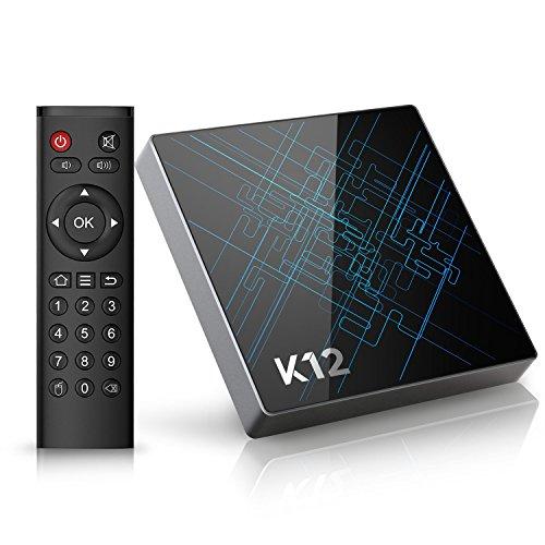 TV Box Android 6.0 Bqeel K12 Smart TV Box mit Amlogic S912 Octa Core CPU, 2GB Ram/16GB eMMC, 1000M LAN, Dual-Band WiFi, Bluetooth 4.1, OTA-Update-Funktion, 4K Streaming Box