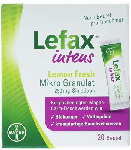 Lefax intens Lemon Fresh Mikro Granul.250 mg Sim. 20 stk