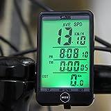 Lixada Multifonction étanche Compteur de vitesse Odomètre filaire vélos informatique Cyclisme bouton tactile LCD backlight