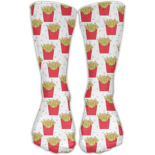 UFHRREEUR LINGMEI Unisex French Fries Cool High Athletic Stockings Long Socks Sports Outdoor One Size 30cm for Men Women