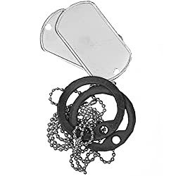 Mil-Tec US Original Dog Tag Set Polished With Silencer by Mil-Tec